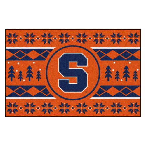 "19"" x 30"" Orange and Blue NCAA Syracuse Orange Rectangular Sweater Starter Mat - IMAGE 1"