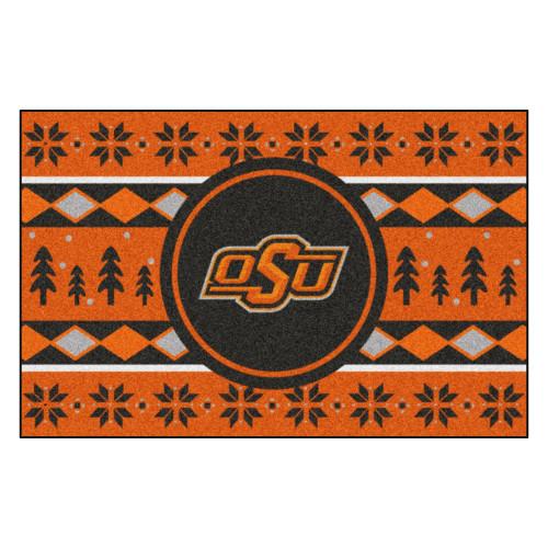 "19"" x 30"" Orange and Black NCAA Oklahoma State Cowboys Rectangular Sweater Starter Mat - IMAGE 1"