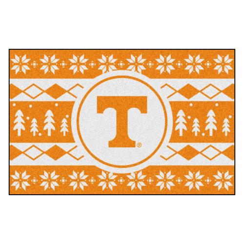 "Orange and White NCAA Tennessee Volunteers Rectangular Sweater Starter Mat 30"" x 19"" - IMAGE 1"