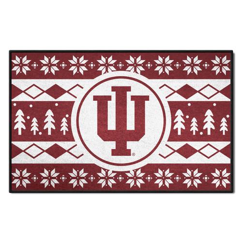 "19"" x 30"" Red and White NCAA Indiana Hoosiers Rectangular Sweater Starter Mat - IMAGE 1"