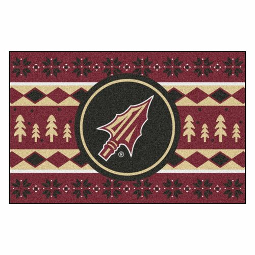 "19"" x 30"" Red and Black NCAA Florida State Seminoles Rectangular Sweater Starter Mat - IMAGE 1"
