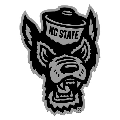 """3"""" Stainless Steel and Black NCAA NC State Wolfpack 3D Emblem - IMAGE 1"""