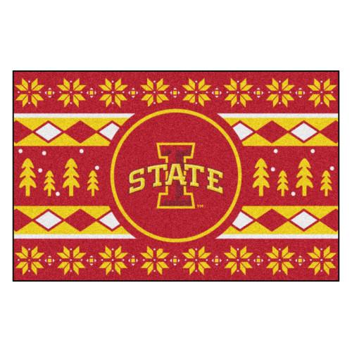 """19"""" x 30"""" Red and Yellow NCAA Iowa State Cyclones Rectangular Sweater Starter Mat - IMAGE 1"""