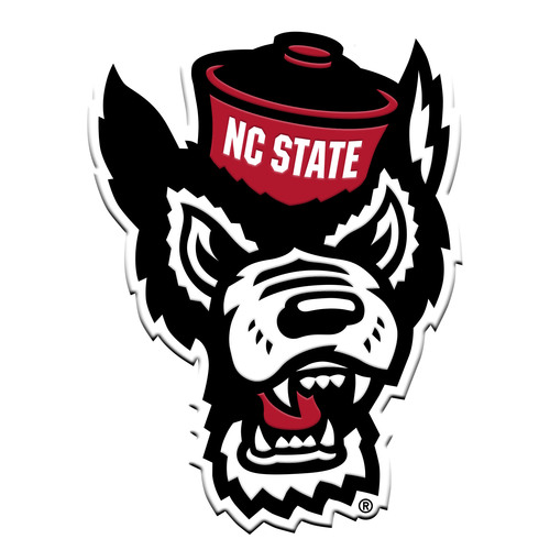 "3"" Black and White NCAA North Carolina State Wolfpack 3D Emblem - IMAGE 1"