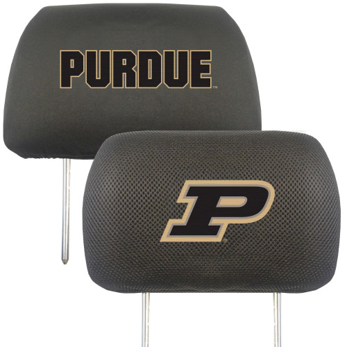 """13"""" Black and Gold NCAA Purdue Boilermakers Headrest Cover - IMAGE 1"""