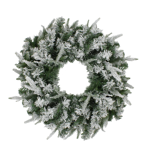Flocked Winfield Fir Artificial Christmas Wreath - 36-Inch, Unlit - IMAGE 1