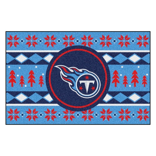 """Blue and Red NFL Tennessee Titans Rectangular Sweater Starter Mat 30"""" x 19"""" - IMAGE 1"""