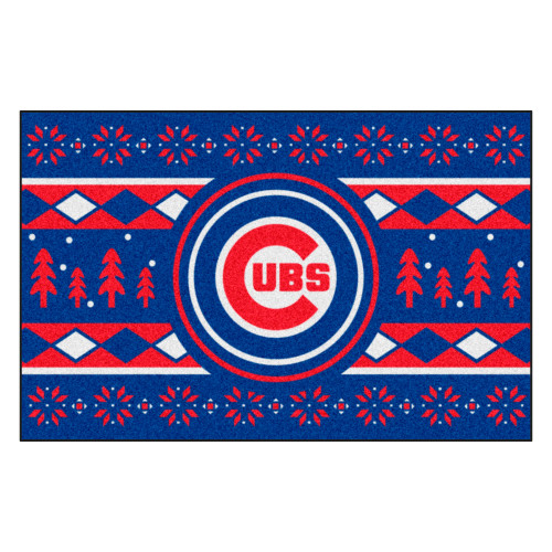 """Blue and Red MLB Chicago Cubs Rectangular Sweater Starter Mat 30"""" x 19"""" - IMAGE 1"""