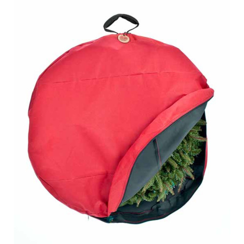 Direct Suspend Hanging Christmas Wreath Storage Bag - Fits Up To 36 Wreath - IMAGE 1