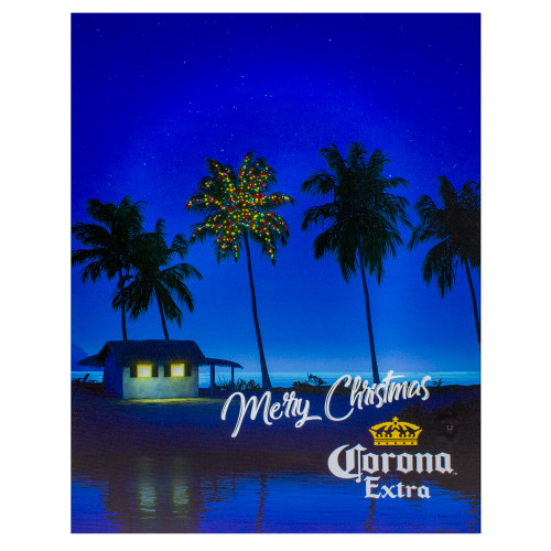 "18.75"" Motion Activated Musical Lighted Corona Christmas Wall Art - IMAGE 1"