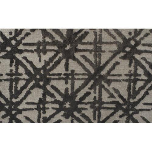 8' x 8' Abundance Geometric Lattice Pattern Beige and Black Square Polypropylene Area Rug - IMAGE 1