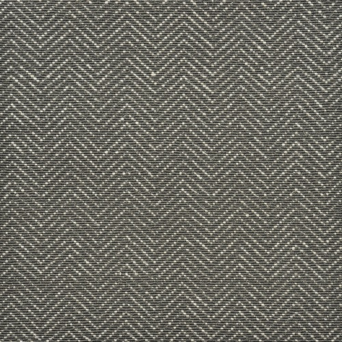8' Gray Ivory Dorchester Geometric Broadloom Round Wool Blend Area Rug - IMAGE 1