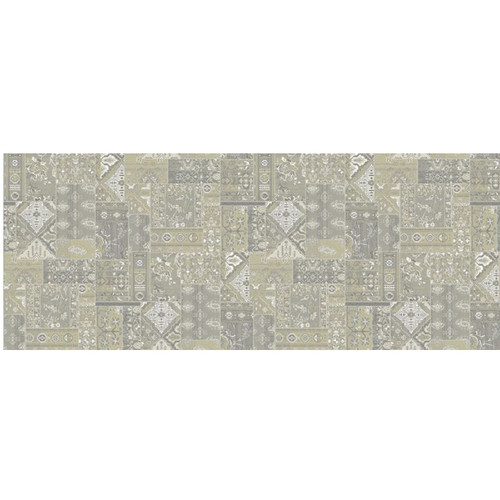 8' Philosophy Solution Dyed Gray and Ivory Round Polypropylene Area Rug - IMAGE 1