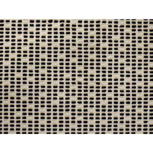 10' x 10' Mosaic Tile Black and Ivory Square Polypropylene Area Throw Rug - IMAGE 1