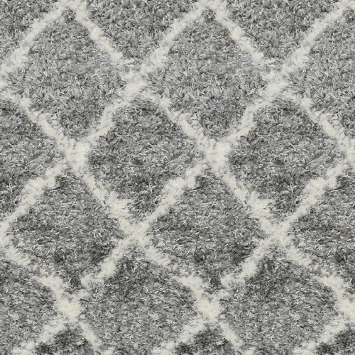 6' x 9' Superior Gray and Ivory Moroccan Pattern Rectangular Polypropylene Area Rug - IMAGE 1