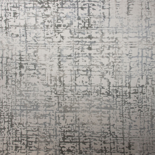 3' x 10' Gracious Abstract Beige and Gray Polypropylene Area Throw Rug Runner - IMAGE 1