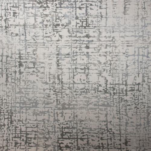 8' x 11' Gracious Abstract Beige and Gray Rectangular Polypropylene Area Throw Rug - IMAGE 1