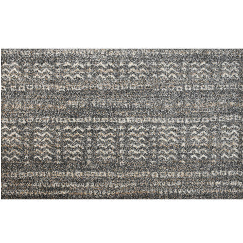 8' x 8' Exclusive Tribal Pattern Gray and Ivory Broadloom Square Polypropylene Area Rug - IMAGE 1