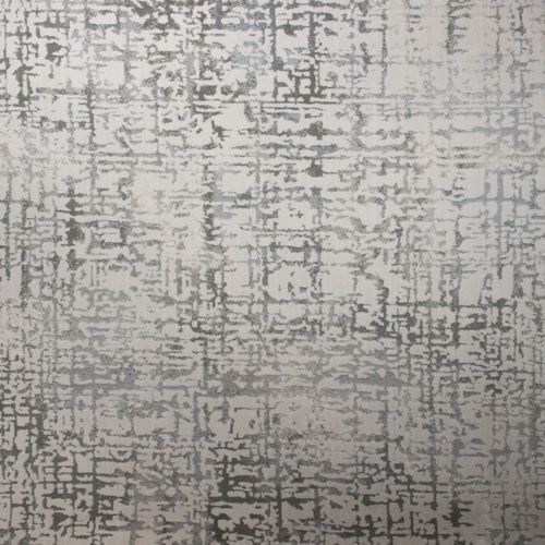 10' x 14' Gracious Abstract Beige and Gray Rectangular Polypropylene Area Throw Rug - IMAGE 1