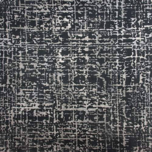 10' Passionate Abstract Design Gray and Ivory Broadloom Round Area Throw Rug - IMAGE 1