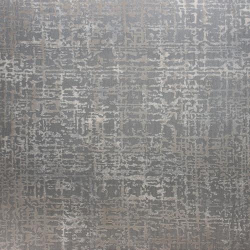 12' x 15' Oxford Abstract Gray and Ivory Rectangular Polypropylene Area Throw Rug - IMAGE 1