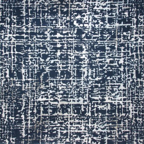 13' x 15' Sea Breeze Abstract Design Blue and Ivory Broadloom Rectangular Area Throw Rug - IMAGE 1