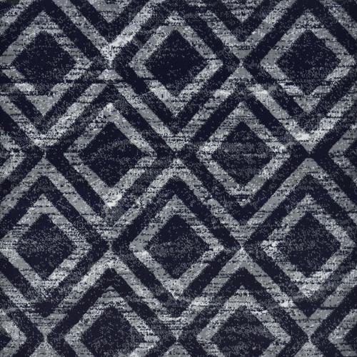 6' x 9' Saphire Diamond Pattern Blue and Silver Rectangular Polypropylene Area Throw Rug - IMAGE 1