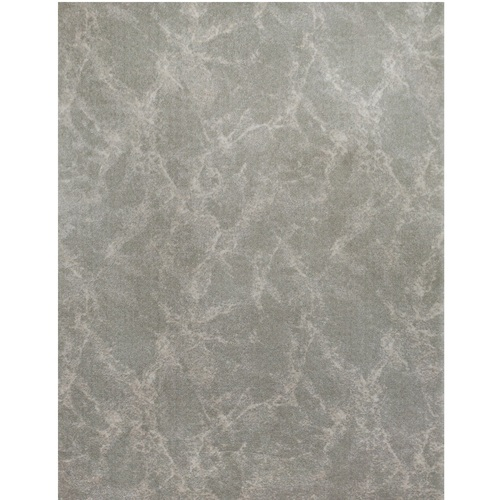 6' x 9' Quartz Abstract Design Gray and Ivory Broadloom Rectangular Polypropylene Area Rug - IMAGE 1