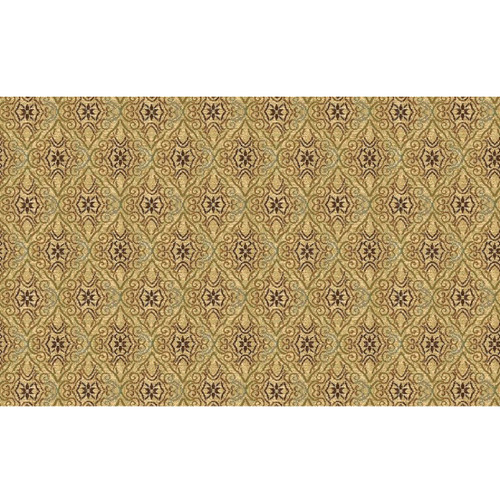 8' Beige and Green Woven Round Area Throw Rug - IMAGE 1
