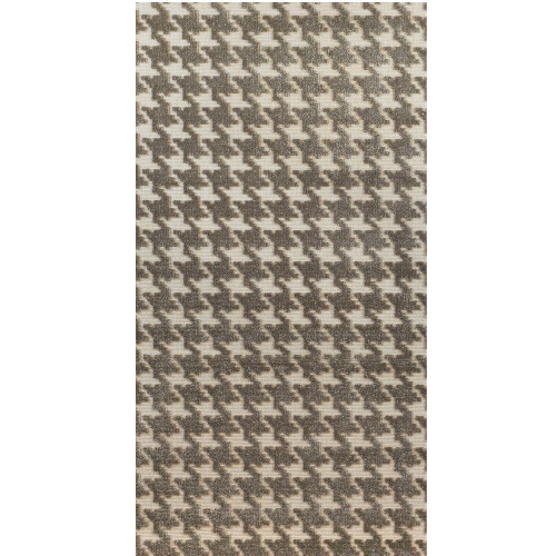 3' x 10' Admirable Beige and Ivory Ultra-Soft Pile Square Area Rug Runner - IMAGE 1