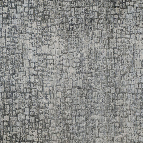10' Bliss Distressed Geometric Gray and Blue Broadloom Round Area Rug - IMAGE 1