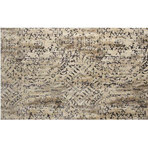 12' x 12' Valencia Beige and Brown Broadloom Square Area Throw Rug - IMAGE 1