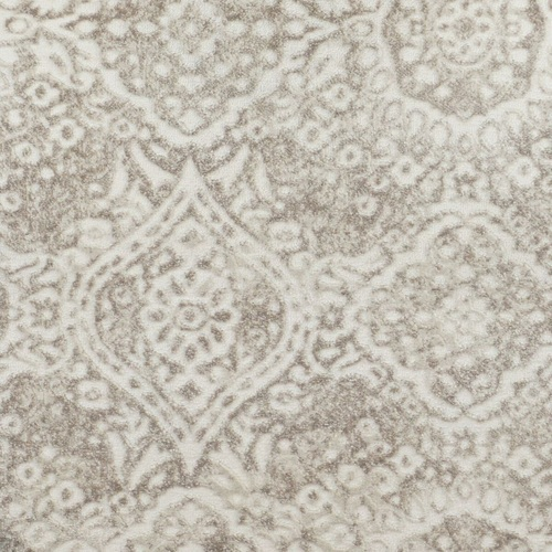 8' x 11' Beige and Ivory Distressed Broadloom Rectangular Area Throw Rug - IMAGE 1