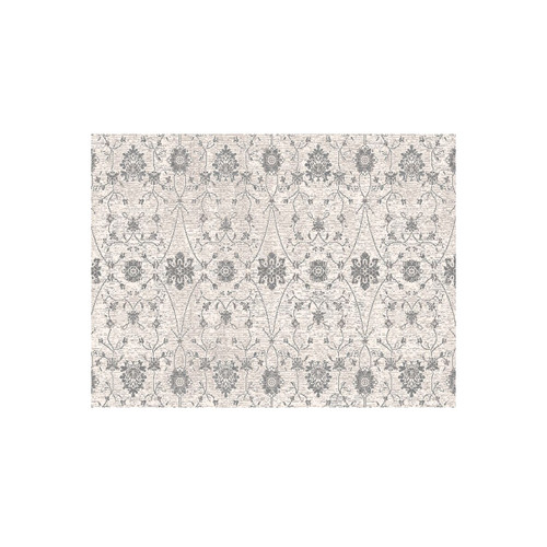 10' x 14' Beige and Ivory Kamet Ornamental Motifs Rectangle Area Throw Rug - IMAGE 1