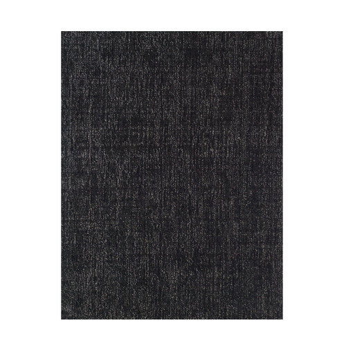 6' x 6' Black and Ivory Square Wool Blend Area Rug - IMAGE 1