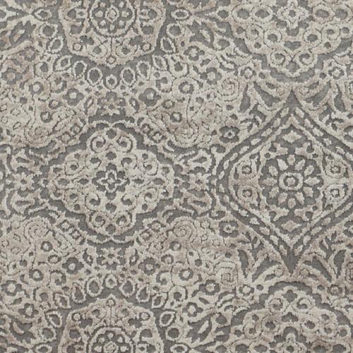 12' x 12' Beige and Ivory Ravishing Symmetrical Motifs Square Area Throw Rug - IMAGE 1