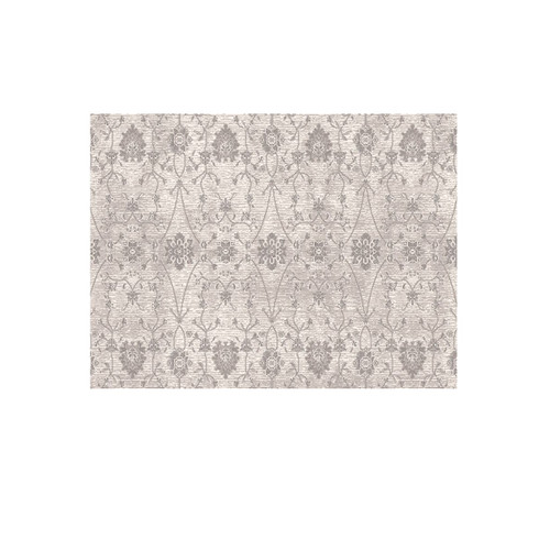 12' Beige and Ivory Elbrus Ornamental Motifs Round Area Throw Rug - IMAGE 1