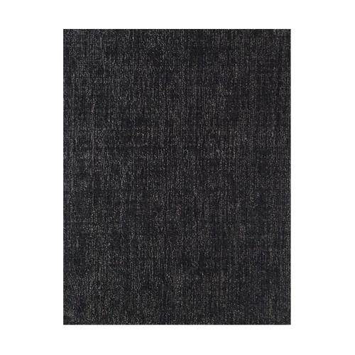3' x 10' Black and Ivory Rectangular Wool Area Rug Runner - IMAGE 1