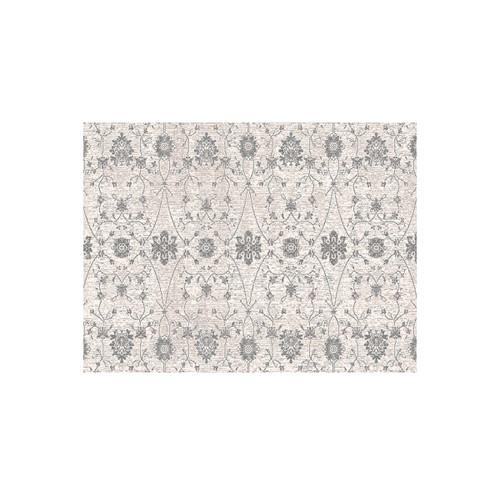 3' x 10' Beige and Ivory Kamet Ornamental Motifs Square Area Throw Rug Runner - IMAGE 1