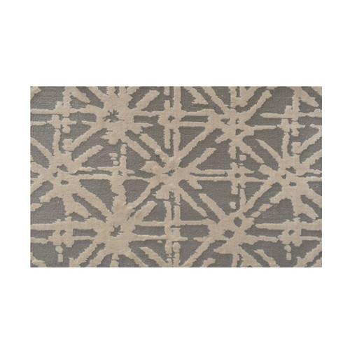 3' x 20' Wealth Geometric Lattice Pattern Gray and Beige Broadloom Area Throw Rug Runner - IMAGE 1