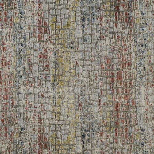 3' x 10' Vibrant Distressed Geometric Broadloom Rectangular Area Rug Runner - IMAGE 1