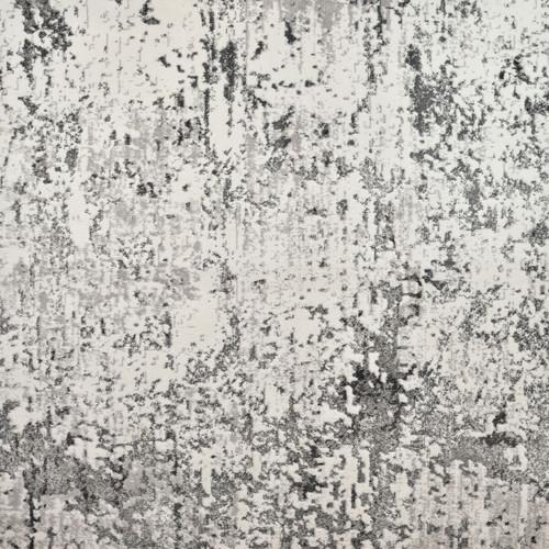 3' x 20' Ivory and Gray Rectangular Woven Rug Runner - IMAGE 1