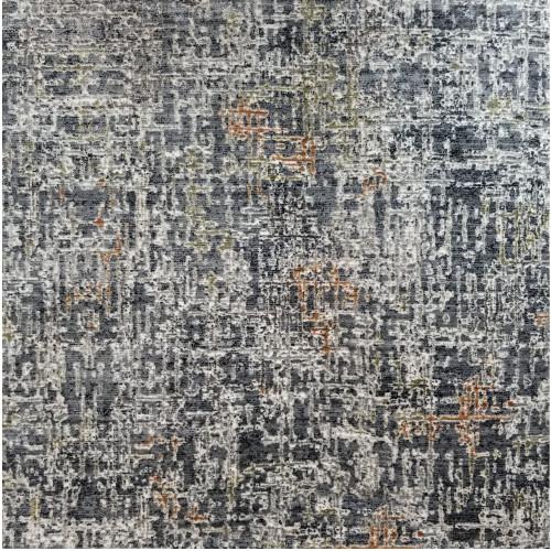 3' x 10' Radiant Blue and Gray Broadloom Rectangular Area Throw Rug Runner - IMAGE 1