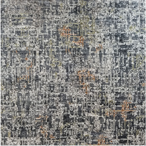 8' x 8' Radiant Blue and Gray Broadloom Square Area Throw Rug - IMAGE 1