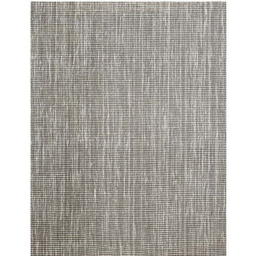 3' x 15' Tampa Gray and Ivory Broadloom Rectangular Wool Blend Area Throw Rug Runner - IMAGE 1