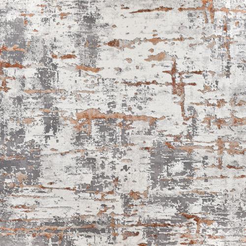 8' x 11' Mod Orange and Ivory Woven Rectangular Area Throw Rug - IMAGE 1