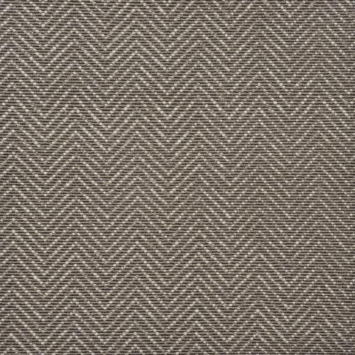 8' x 11' Brown and Ivory Chevron Hand Woven Rectangular Area Throw Rug - IMAGE 1