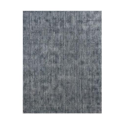3' x 10' Blue and Ivory Broadloom Wool Rug Runner - IMAGE 1