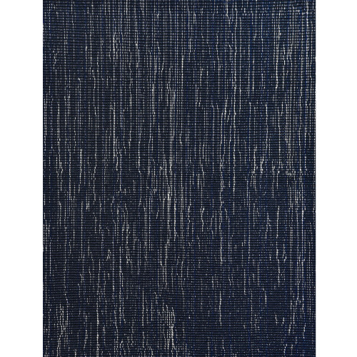 8' Blue and Ivory Round Wool Blend Area Rug - IMAGE 1