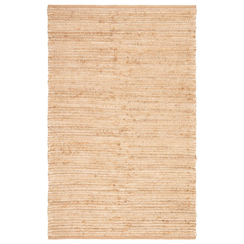 9.5' x 13.5' Brown and White Hand Woven Rectangular Area Throw Rug - IMAGE 1